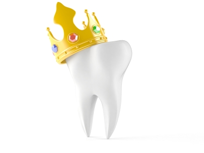 Rendered image of a tooth with a crown at Medhat Dental Excellence in Chicago, IL